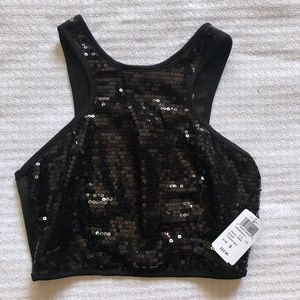 Windsor Sequin Crop Top